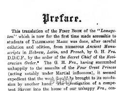 Antique book grimoire magic rare esoteric manuscript occultism goetia kabbalah 1