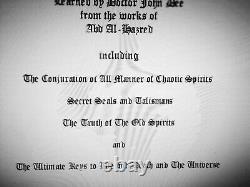 Antique book grimoire magic rare esoteric manuscript occultism manual witchcraft