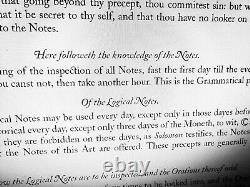 Antique book occult black magic rare esoteric manuscript cabalistic ars notoria