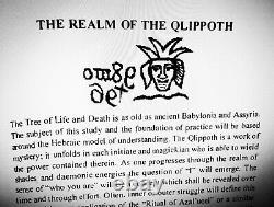 Antique book occult black magic rare esoteric manuscript cabalistic qliphoth art