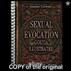 Antique book occult black magic rare esoteric manuscript goetia aleister crowley