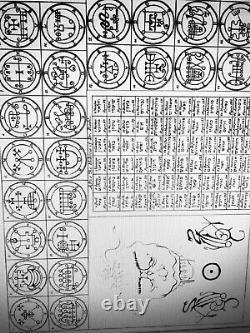 Antique book occult black magic rare esoteric manuscript kabala goetia lucifer