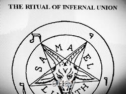 Antique book occult black magic rare esoteric manuscript satanic grimoire satana