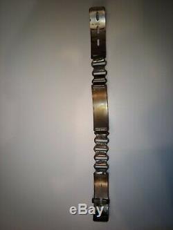 Antique metal book link dog collar Vintage Ultra RARE monogramed