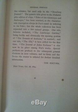 Antique set 4 Edgar Allen Poe 1800's books published 1894 gilt edge VERY RARE