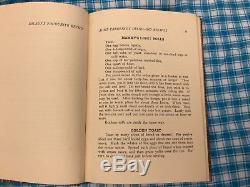 Aunt Caroline's Dixieland Recipes Antique Rare All Original Cloth Cover 1922