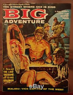 BIG ADVENTURE JUNE 1961 pulp Adventure EXPLOITATION Bondage Torture NAZIS RARE