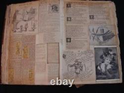 Big 18x13x3 Antique Scrap Book Year c. 1900 Rare Whitney Family Mormon California