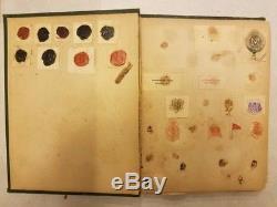 C1897 ANTIQUE Vintage Hundreds of Letter Head Logos Scrap Book Rare