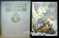 C1908 The Tempest EDMUND DULAC Signed Deluxe Ltd Edition! RARE ANTIQUE BOOK