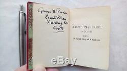 Charles Dickens A Christmas Carol Miniature Antique C1900 Rare Ills M Jameson