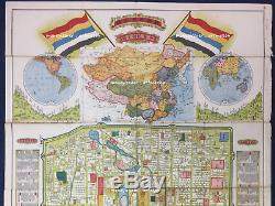 China 1923 Peking (Pekin, Beijing) Map, Original Antique, Rare