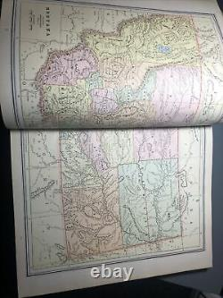 Crams Unrivaled Family Atlas of the World 1888 Antique Book Vintage Maps Rare