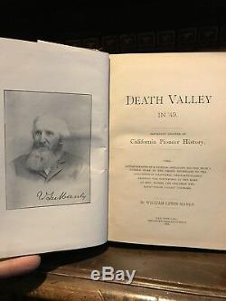DEATH VALLEY IN 49 Gold Rush CALIFORNIA HISTORY ANTIQUE 1st Ed Manly RARE