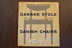 Danske Stole Danish Chairs by Nanna & Jorgen Ditzel, 1954 Denmark VERY RARE Book