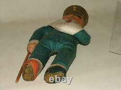 Deans Rag Book Boots Old Antique Very Rare Ww1 Wounded Soldier Doll C. 1915
