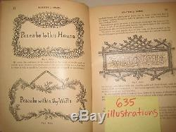 EX RARE ANTIQUE VICTORIAN HOME decoration FURNITURE crafts FANCY WORK 635 picts