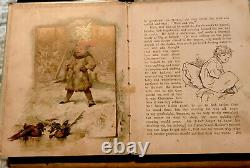 EXTREMELY RARE ROBINS RIDE Antique CHRISTMAS 1880s Victorian Children's Book