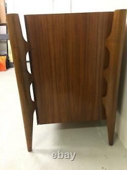 Exceptional & Rare MID Century Dresser In Book-matched Walnut By William Hinn