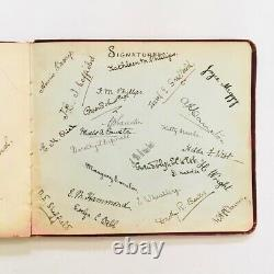 Exceptionally Rare Antique Autograph Art Book The Bank House Southend on Sea