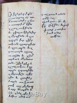 Extremely Rare Armenian manuscript gorspel Church book handwrite