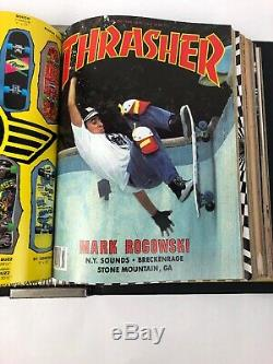 Extremely Rare Vintage Thrasher Magazine Lot 1987 Volume 7 Complete 12 Issues