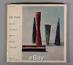 Extremely rare book De Poli by Gio Ponti Paolo De Poli enamel vases figures