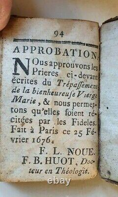 Extremely rare illustrated miniature prayerbook 1676, in original leather bag