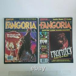 FANGORIA MAGAZINE 1 -10 RARE Vintage 1980 Excellent Condition