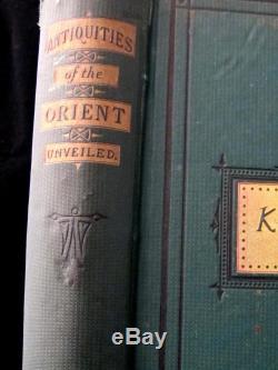 FREEMASONRY Masonic ANTIQUES OF THE ORIENT UNVEILED Knights Templar Occult Rare