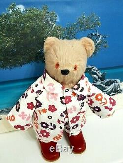 Fabulous Early Paddingtonstumpy Bear In Rare Flowered Pj's(new)+vintage Book