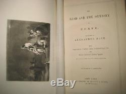 Fine Antique Iliad & Odyssey Of Homer Full Leather Binding Gilt Sold @ $1875