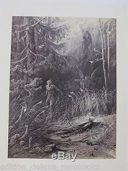 GUSTAVE DORE Rare 1870 FOLIO Thomas Hood PHOTO ILLUSTRATION Antique Old Book VTG