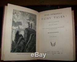 HANS CHRISTIAN ANDERSEN FAIRY TALES Rare Antique Victorian Fine Binding