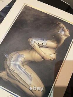 Hajime Sorayama Moira Signed Lithograph + Book Rare, Vintage, Limited Ed