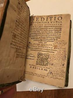 History of the German Peasants' Wars. First Edition(1570). Antique Book Rare