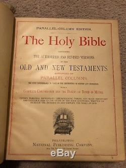 Holy Bible Antique Parallel Column Edition, Rare 1886, Over 130 years old