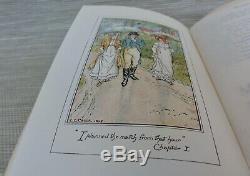 ILLUSTRATED JANE AUSTEN COMPLETE WORKS NOVELS c. 1900 RARE ANTIQUE 10 VOL. SET