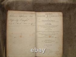 Johnson's English Dictionary Volume I Hc 1809 Very Old Rare Antique Book