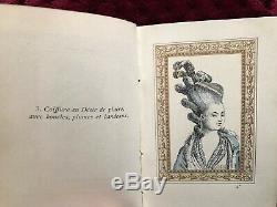 LA PARURE EXCENTRIQUE RARE ANTIQUE ORIGINAL Fashion BOOK 100 watercolored plates