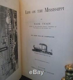 LIFE ON THE MISSISSIPPI Mark Twain 1ST ED Second State RARE Fine Binding ANTIQUE