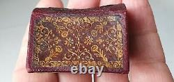 La Sainte Bible very rare Miniature Bible 1752 in red gilded leather binding