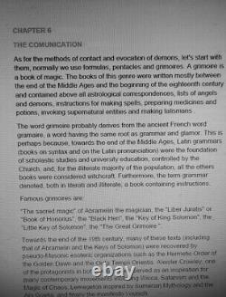 Lemegeton antique book occult ceremonial black magic rare dark grimoire kabbalah
