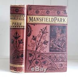 Mansfield Park By Jane Austen Antique Victorian Classic Romance RARE Late 1800's