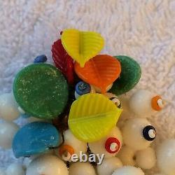 Miriam Haskell Vintage Multi Coloured Glass Beads Dress Clip- Book Piece &rare