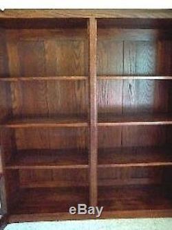 Mission Bookcase Collectibles Oak Furniture Rare Book Custom cabinet organize