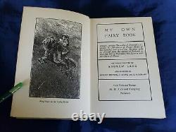 My Own Fairy Book Andrew Lang Tales RARE Lovely Antique Swan Cover + Dust Jacket