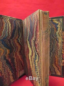 NUPTIAL DIALOGUES 1723 Leather FINE BINDING Marriage POEMS Rare ANTIQUE Book