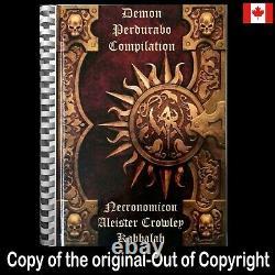 Necronomicon antique book aleister crowley kabbalah occult dark rare grimoire 1