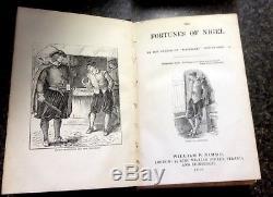 Old Waverley Novels by Sir Walter Scott 1880 SET OF 7 BOOKS Rare Vintage Antique